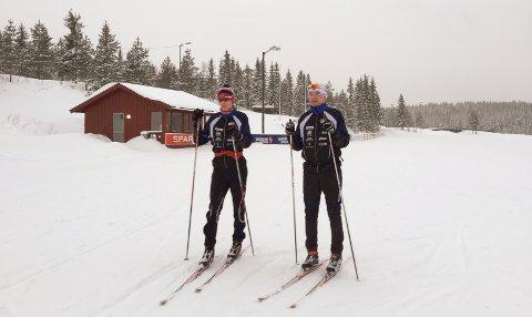 TEST: Bård Eskil Bjørndalen testet NM-løypene sammen med pappa Tommy.