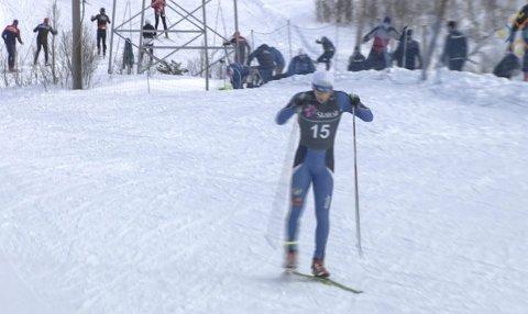 Aleksander Slydahl i løypa i NM junior i Harstad