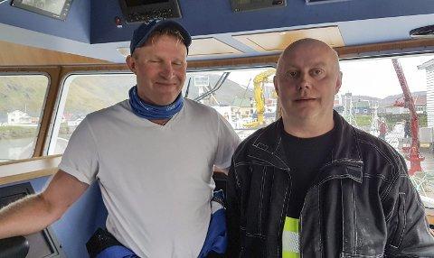 STOR INVESTERING: Ørjan Furøy og Are Mikalsen er ikke redde for å satse. De er klare på at skal man følge med i utviklingen så man investere i nye båter. Deres siste båt er også ifølge duoen godt finansiert gjennom Innovasjon Norge. Foto: Privat