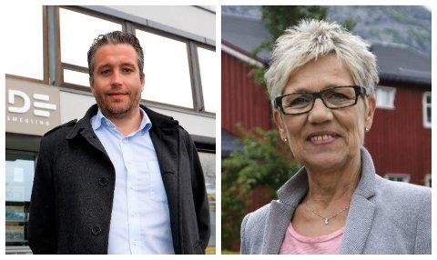 MEGLERE: Roger Lorentzen i Rede Eiendomsmegling og Sissel Valåmo i EiendomsMegler1 spår at 2020 kommer til å bli et godt år for boligsalg og kjøp, og ser allerede effekter av sykehusvedtaket i januar.