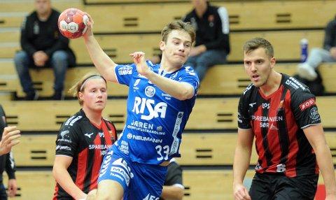TOPPSCORER: Sindre Heldal satte sju baller i mål i lørdagens treningskamp mot ØIF Arendal.