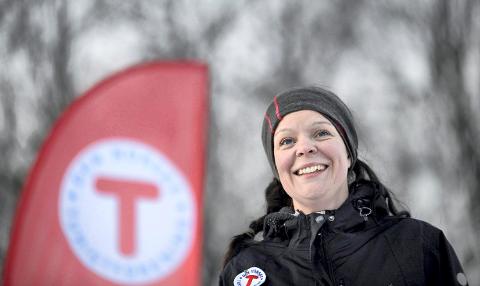 Ingunn Våer, daglig leder i Kongsberg og Omegns Turistforening, er med og arrangerer marsjen for naturen.