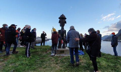 Nå er skulpturen tilbake i Rokkvika.