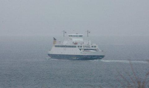 Tett tåke gjør at det vil ta noe lengre tid på ferjeoverfarten til Horten.
