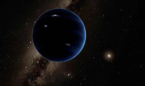 MYSTERIE: Denne illustrasjonen viser hvordan den mystiske Planet Ni kanskje ser ut.