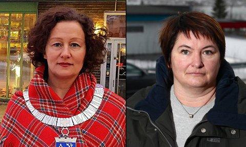 IKKE ENIGE: Ordfører Kristin Røymo i Tromsø og ordfører Mona Pedersen i Karlsøy er naboer, men uenige om hvem som bør få mest av Troms Kraft.