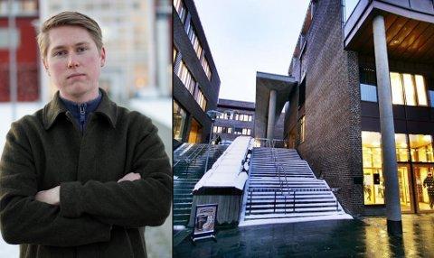 FORBAUSET OG IRRITERT: Avgjørelsen fra regjeringen ble møtt med forbauselse og irritasjon blant studentene, forteller  leder i Studentparlamentet på UiT Norges arktiske universitet, Herman Siggerud.