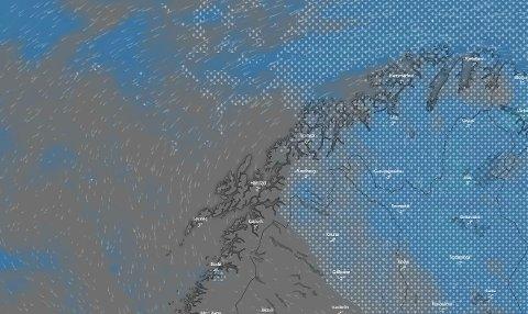 SNUR: Meteorologen varsler væromslag i Troms fredag kveld.