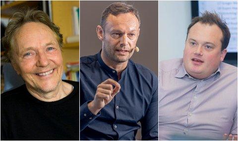 USIKKER PÅ EFFEKT: Fra venstre: Kjell Arne Røvik, professor ved UiT, Torgeir Knag Fylkesnes, nestleder i SV og Jonas Stein, valgforsker ved UiT.