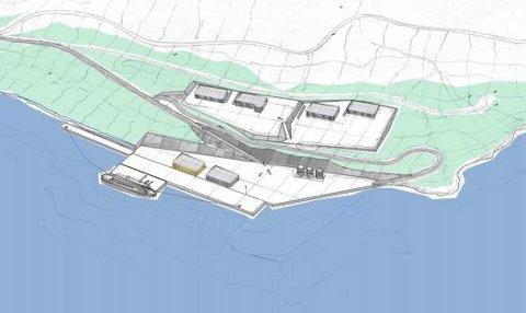 Slik er første byggetrinn ved Hjellnes planlagt.