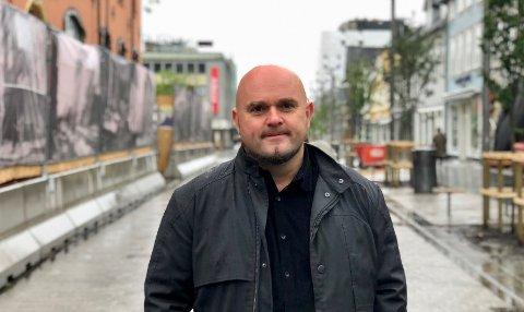 LIKER STORGATA: Tromsø er både stygg og pen, mener Tord Kvien i Niels Torp + arkitekter. Han mener Storgata er den peneste gaten.