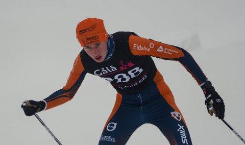 Eskil Engdal fra Vind vant klasse 15 år i Madshussprinten på Biri.