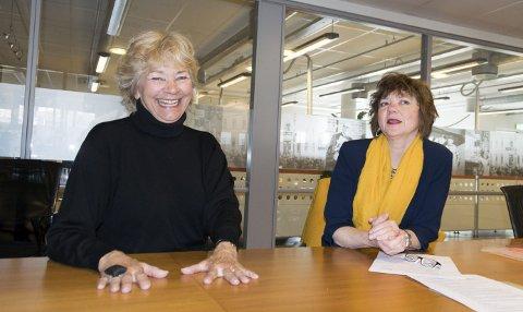 Kulturfokus: Lill Bjørvik og Wenche Hellum er blant medlemmene i Kulturrådet, og nå etterlyser de politisk fokus på kultur.foto: per Albrigtsen