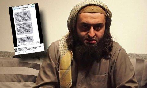 Mohyeldeen Mohammad sendte trusselmeldinger til Abid Raja. Bildet er fra en YouTube-video som han publiserte i slutten av september 2016.  Foto: YouTube og skjermdump Twitter