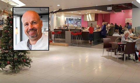 OM LITT ER KAFFEN KLAR: Majas Kaffebar, som ligger på Amfi-senteret i Larvik sentrum, kan ønske kundene velkommen igjen. Og samtdig kommer Pål Taklo med en god nyhet. Arkivfoto: Arianit Selmani/Sigrid Ringnes