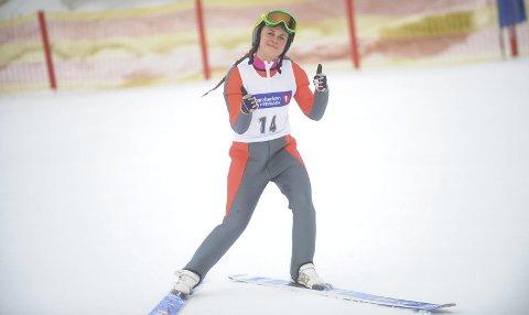 NUMMER TO: Hanna Midtsundstad sikret seg sølv i kombinertrennet i Furnes.  Foto: magnus Torp Antonsen