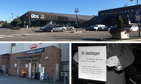 STREIKEFARE: Coop Obs og Meny i Elverum blir tatt ut i streik, dersom det blir arbeidskonflikt fra og med lørdag. – Vi er ikke vant til å streike og håper selvsagt å unngå det. Forrige handelsstreik var i 1961, sier kontorleder i Handel og Kontor Innlandet, Ole Christian Foss. 8. november 1961 ble skiltet «Vi beklager at magasinet må stenge på grunn av streiken. Kundene vil bli underrett om magasinets åpning gjennom annonse i dagspressen og nyhetssendingen i Kringkastingen.» hengt opp på Sten og Strøm i Oslo.
