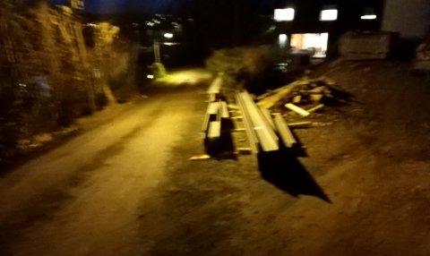 Beboeren har sendt dette bildet som fotodokumentasjon til kommunen.
