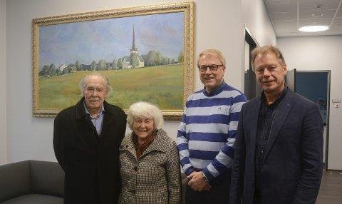 Fornøyde: Arne Løvstad (t.v.), Astrid Løvstad, Erik Slaatsveen og Steinar Ulven.Foto: Ole Ludvig Rosenborg