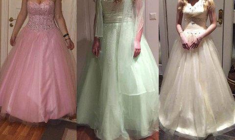 Nydelige kjoler til salgs. Gjenbruk er trendy.