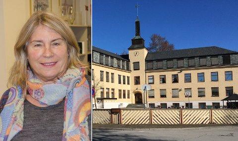 MÅ BEHANDLE: Ordfører Kirsten Orebråten har nå fått innbyggerinitiativet om Hønefoss skole på sitt bord. Det er hun fornøyd med.