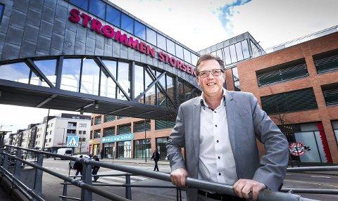 Fortsatt størst: Per Kristian Trøen er glad for å kunne vise til gode resultater for Strømmen storsenter. Foto: Kay Stenshjemmet