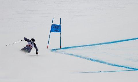 NUMMER 16: Aksel Lund Svindal fikk det ikke til i super-G i VM i Åre. Han endte på en beskjeden 16. plass.