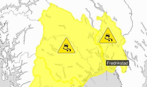 Lørdag kveld begynner det å snø. Meteorologisk institutt har sendt ut farevarsel.