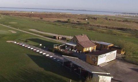 Klubbhuset til Sola Golfklubb ved Solastranden.