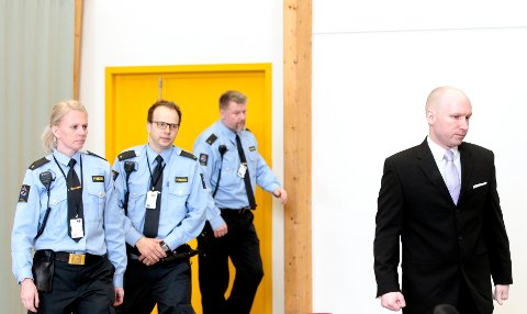 Borgarting lagmannsrett har lagt ned forbud for andre enn rettens aktører å bli med på befaringene i Skien fengsel og på Ila i forbindelse med behandlingen av Anders behring Breiviks anke. Foto: Lise Åserud / NTB scanpix