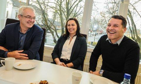 OM BOLIGMARKEDET: TA har tatt en prat med eiendomsmeglerne Torgeir Halsen fra DNB eiendom, Carina Slåtta fra Privatmegleren og Henrik Tangen fra Krogsveen i Bamble.