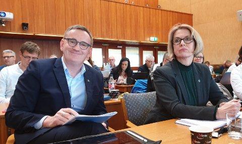 Venstres Asgeir Bahre Hansen og Ragnhild Helseth.