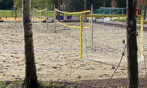 TO I EN: På det nye nærmiljøanlegget i Nesskogen Idrettspark har man laget denne kombinasjonen.