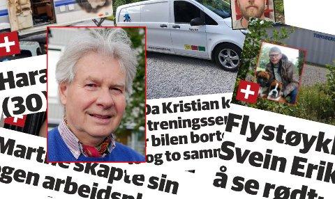 IRRITERER: Johan Christian Haugan irriterer seg over titler vinklet på intervjuobjektets fornavn i Tønsbergs Blad.
