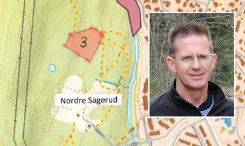 SMÅENDRINGER:– Vi må kanskje justere en sving, sier anleggsleder Kjell-Over Skare (innfeldt) i Nittedal skiskytterlag om påvist kalkfuruskog rett ved skiløypa nord for skiskytteranlegget på Sagerud.