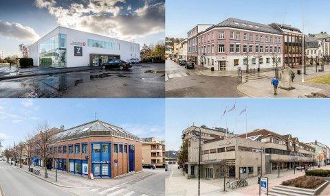 SOLGT: De fire eiendommene hadde til sammen en prisantydning på 182 millioner kroner.