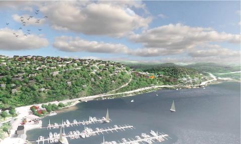 KAN BLI ENDRET: En omregulering av Askehaugåsen og Tømrernes feriehjem er under arbeid. I fremtiden kan dte bli bygget mange nye boliger i området. ILLUSTRASJON