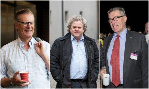 MILLIARDÆRER: Dissene mennene er på toppen av listen over de rikeste i Norge. F.v. Johan H. Andresen, Johan Johannson og Stein Erik Hagen.