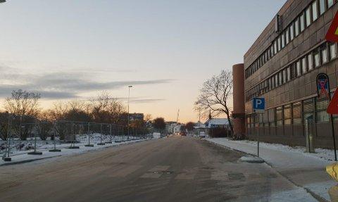 Bodø kommune la til rette for parkering utenfor posthuset i Prinsens gate.