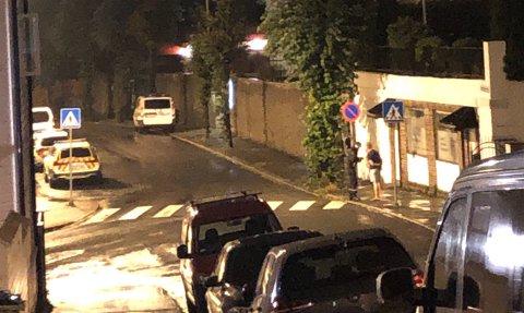 En mann ble tatt på fersken onsdag kveld idet han kom ut fra NLA Høgskolen i Amalie Skrams vei, med en pose full av tyvegods.