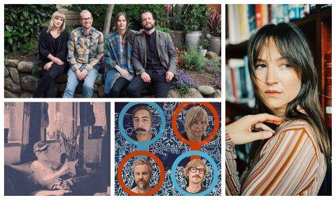FESTIVALKLARE: Nye artister er bekreftet til visefestivalen. Med klokka fra øverst til venstre: Frøkedal, Malin Pettersen, The Hig Water Marks og Rider.