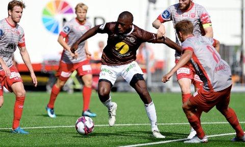 Fotball, 5. august 2018 , OBOSligaen , 1. divisjon , Mj¿ndalen - Str¿mmen Olivier Occean , MIF