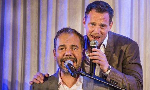 Fantastisk: Gisle Børge Styve og Heine Totland leverer festlige sideblikk og latterfremkallende kommentarer blandet med musikalitet. Det må bare bli gøy.Foto: Thomas Hörman Arntsen