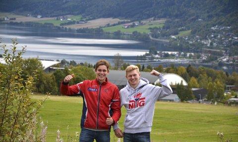 Idrettsby: Herman Gløersen (t.v.) og Tobias Olsen stortrives på Lillehammer, men fortsatt vil de representere Fredrikstad Skiklubb.                             foto: terje antonsen