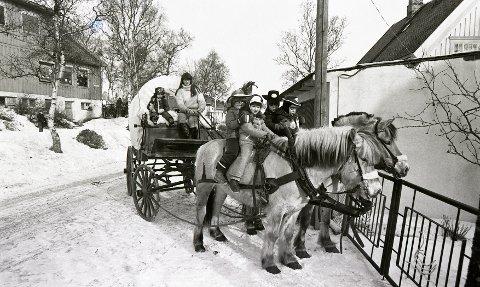 VU: Fast innslag i Vinterfestuka gjennom en årrekke: Hest og vogn. Kusken heter Heidi Mikalsen.