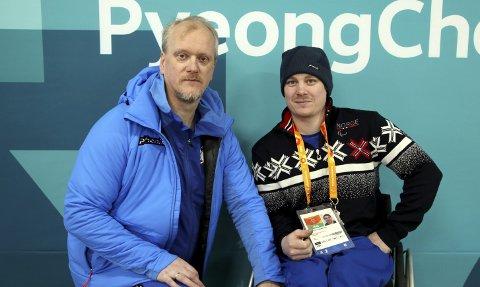 VETERAN: Rudsbygdingen Eskil Hagen (t.v.) deltar i sitt sjuende Paralympics Torstein Aanekre fra Fron er med for første gang på kjelkehockeylaget under OL i Pyeongchang. Begge foto: Geir Owe Fredheim / Idrettsforbundet