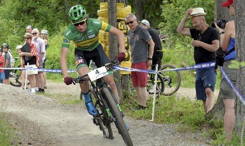 SEIER: Erik Hægstad leder norgescupen i terreng etter helgens to ritt. Søndag vant han rundbanerittet.