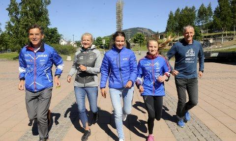 Birkebeinerløpet har nær 8.000 deltakere påmeldt. Fra venstre: Torstein Rudihagen, Randi Bolstad, Johanne Ulrica Øveraasen, Mille Marie Storlien og Olaf Johan Thomasgaard.