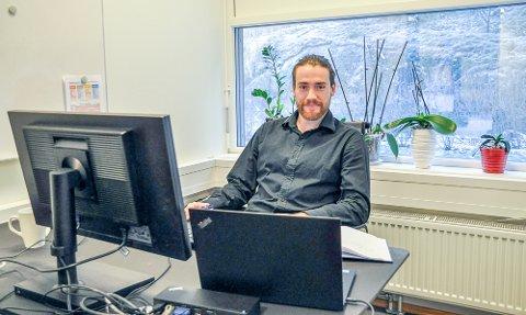 FORSKER: Bryan Pellerin flyttet fra Canada til Halden for å jobbe ved Smart inovation Norway.