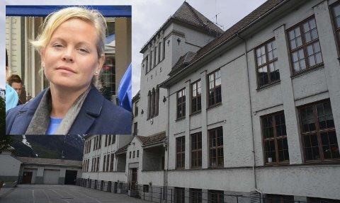 Anna Maria Kråkevik (innfelt) har vikariert for Eva Rekkedal. Tyssedal barneskole har 47 elever i skoleåret 2019/20. Arkivfoto: Ernst Olsen